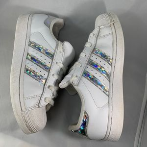 Adidas rockstar white and sparkling silver s 1